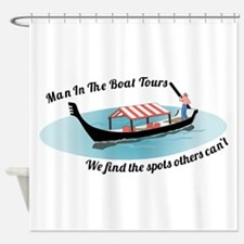Man in the Boat Shower Curtain