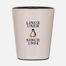 Linux user since 1994 - Shot Glass