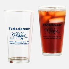 Testosterone Drinking Glass