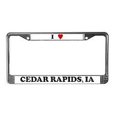 I Love Cedar Rapids License Plate Frame