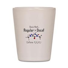 Regular vs Decaf Shot Glass