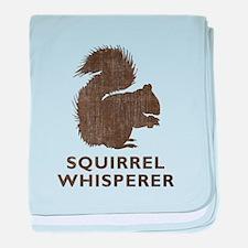 Vintage Squirrel Whisperer baby blanket