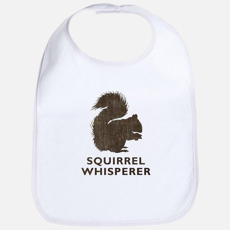 Vintage Squirrel Whisperer Bib