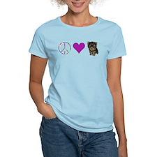 Cute Yorkie peace love T-Shirt