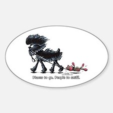 Affenpinscher Places Sticker (Oval)