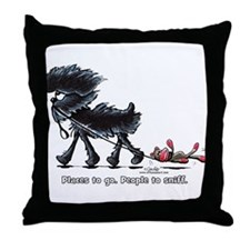 Affenpinscher Places Throw Pillow