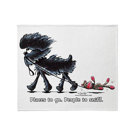 Affenpinscher Places Throw Blanket