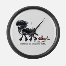 Affenpinscher Places Large Wall Clock