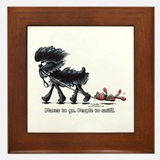 Affenpinscher Places Framed Tile