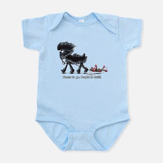 Affenpinscher Places Infant Bodysuit