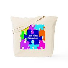Puzzle Piece autismawareness2012 Tote Bag