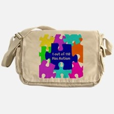 Puzzle Piece autismawareness2012 Messenger Bag