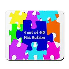 Puzzle Piece autismawareness2012 Mousepad