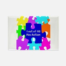 Puzzle Piece autismawareness2012 Rectangle Magnet