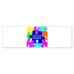 Puzzle Piece autismawareness2012 Bumper Sticker