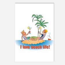 Beach Life Postcards (Package of 8)