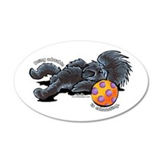 Adorable Affenpinscher 22x14 Oval Wall Peel