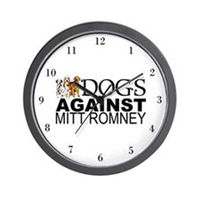 Dogs Against Mitt Romney Wall Clock
