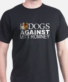 Dogs Against Mitt Romney T-Shirt