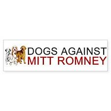 Dogs Against Mitt Romney Bumper Sticker