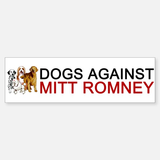 Dogs Against Mitt Romney Sticker (Bumper)