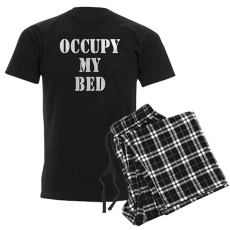 Occupy my bed Men's Dark Pajamas