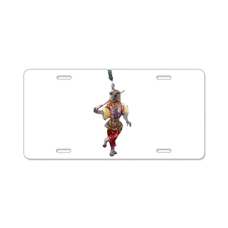 Monkey Business Aluminum License Plate