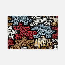 RAB Animal Print Puzzle II Rectangle Magnet (10 pa