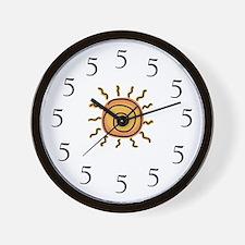 Unique 5 Wall Clock