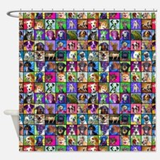 Pop Art Pet Shower Curtain
