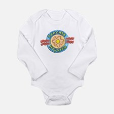 Cute Pancake Long Sleeve Infant Bodysuit