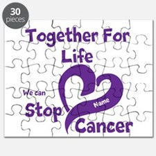 Purple Stop Cancer Puzzle