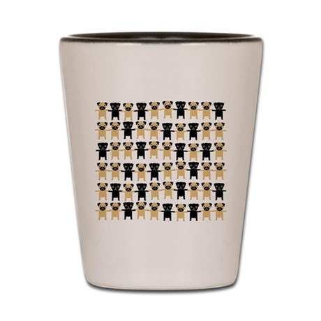 StringOPugs Shot Glass