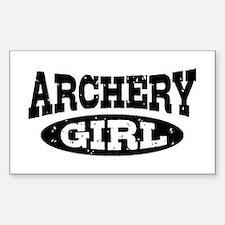 Archery Girl Decal