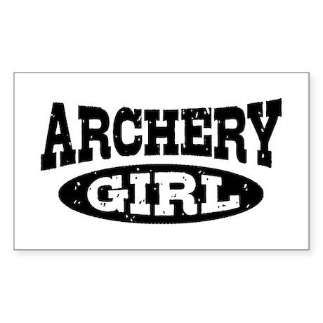 Archery Girl Sticker (Rectangle)