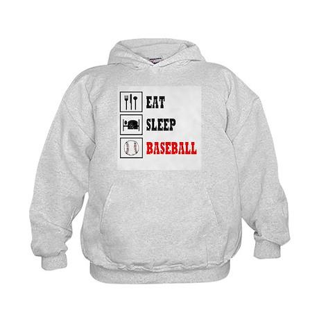 Eat Sleep Baseball Kids Hoodie