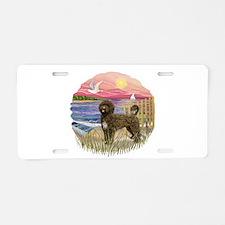 PinkSunset - PWD(brn) Aluminum License Plate