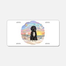 OceanSunrise-PWD5bw Aluminum License Plate