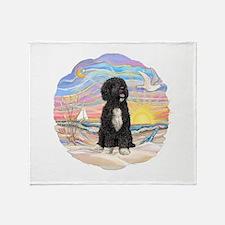 OceanSunrise-PWD5bw Throw Blanket