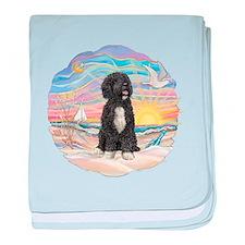 OceanSunrise-PWD5bw baby blanket