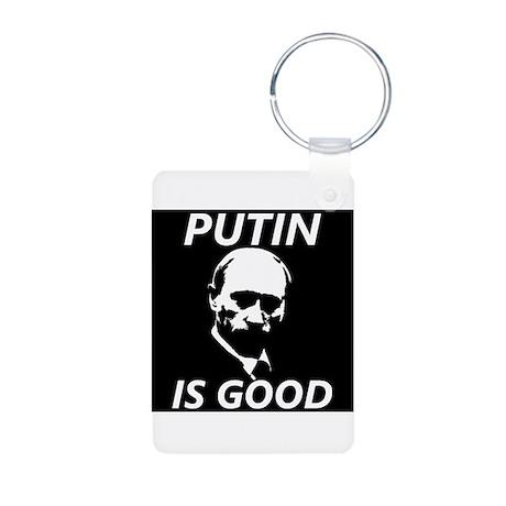 Putin Aluminum Photo Keychain