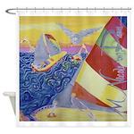 """""""Sailing"""" (TM) Shower Curtain"""
