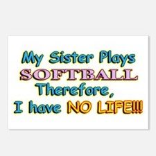 My Sister Plays Softball Postcards (Package of 8)