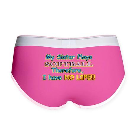 My Sister Plays Softball Women's Boy Brief