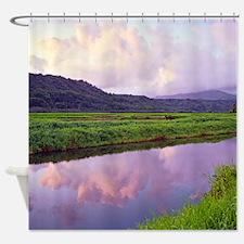 Hanalei Valley Tropical Dawn Shower Curtain