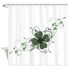 Elegant Shamrock Shower Curtain