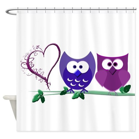 romantic cute owls shower curtain by romanticcuteowls