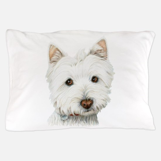 Cute Westie Dog Pillow Case