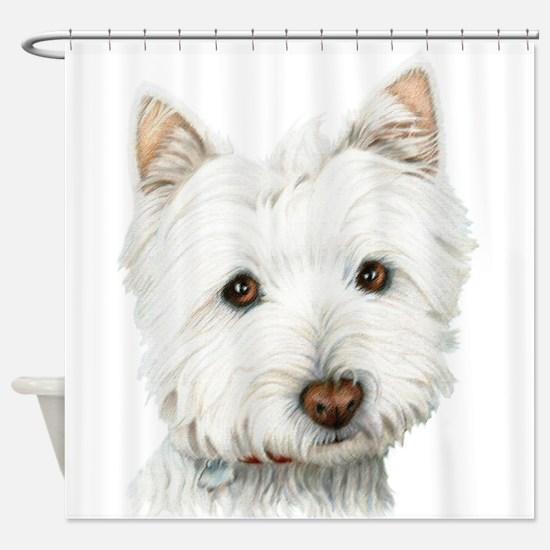 Cute Westie Dog Shower Curtain