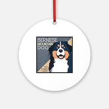 Bernese-Kiss.Snuggle.Repeat. Ornament (Round)